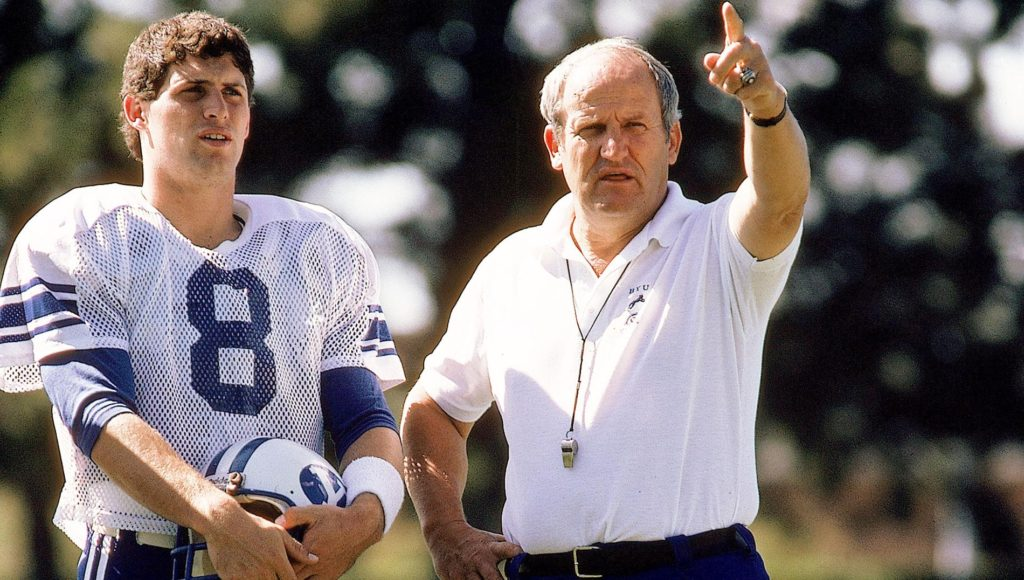 Steve Young was among the many record-setting quarterbacks LaVell Edwards developed at BYU.
