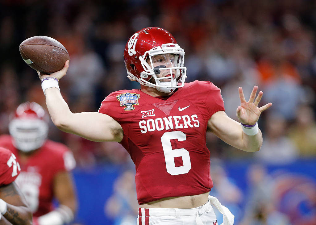 Baker Mayfield threw for 296 yards and two touchdowns in OU's 35-19 victory over Auburn Monday night in the Sugar Bowl. (PHOTO: Ty Russell, OU media relations)