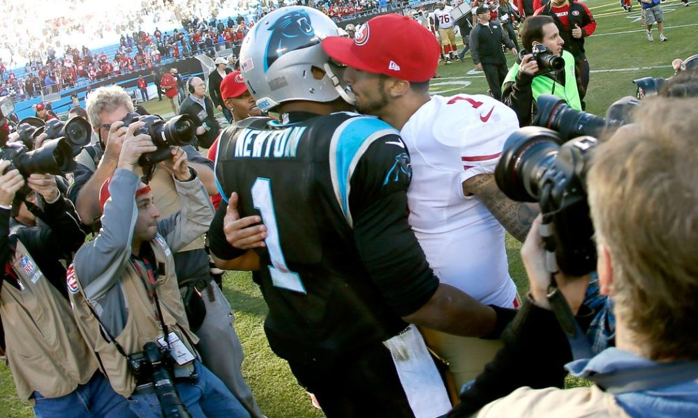 22b801f50 Cam Newton   Should  Colin Kaepernick  be on a roster