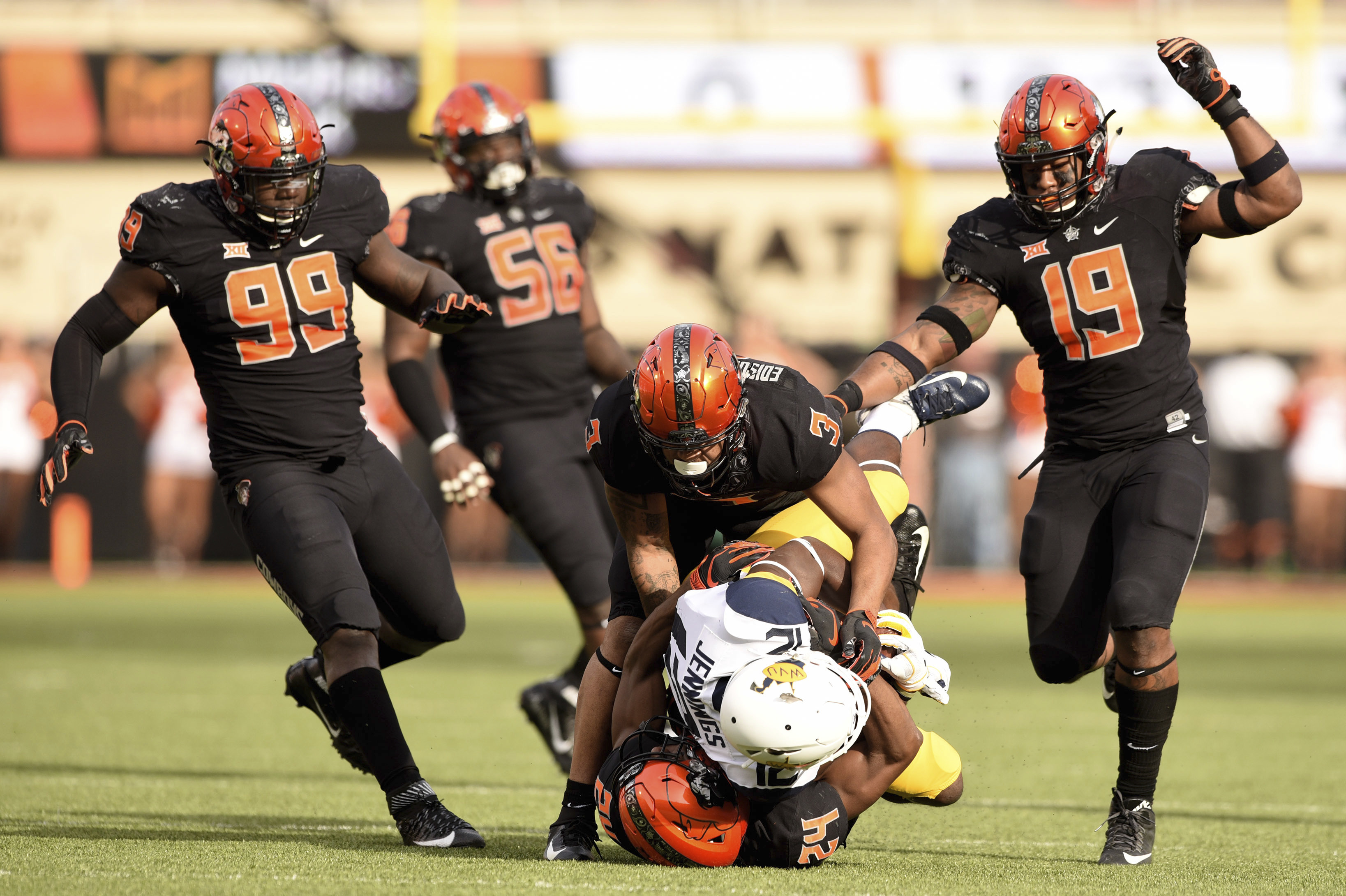 6dfb371699 OSU football  Resilient Cowboys overcome 17-point deficit to knock off No.  9 West Virginia